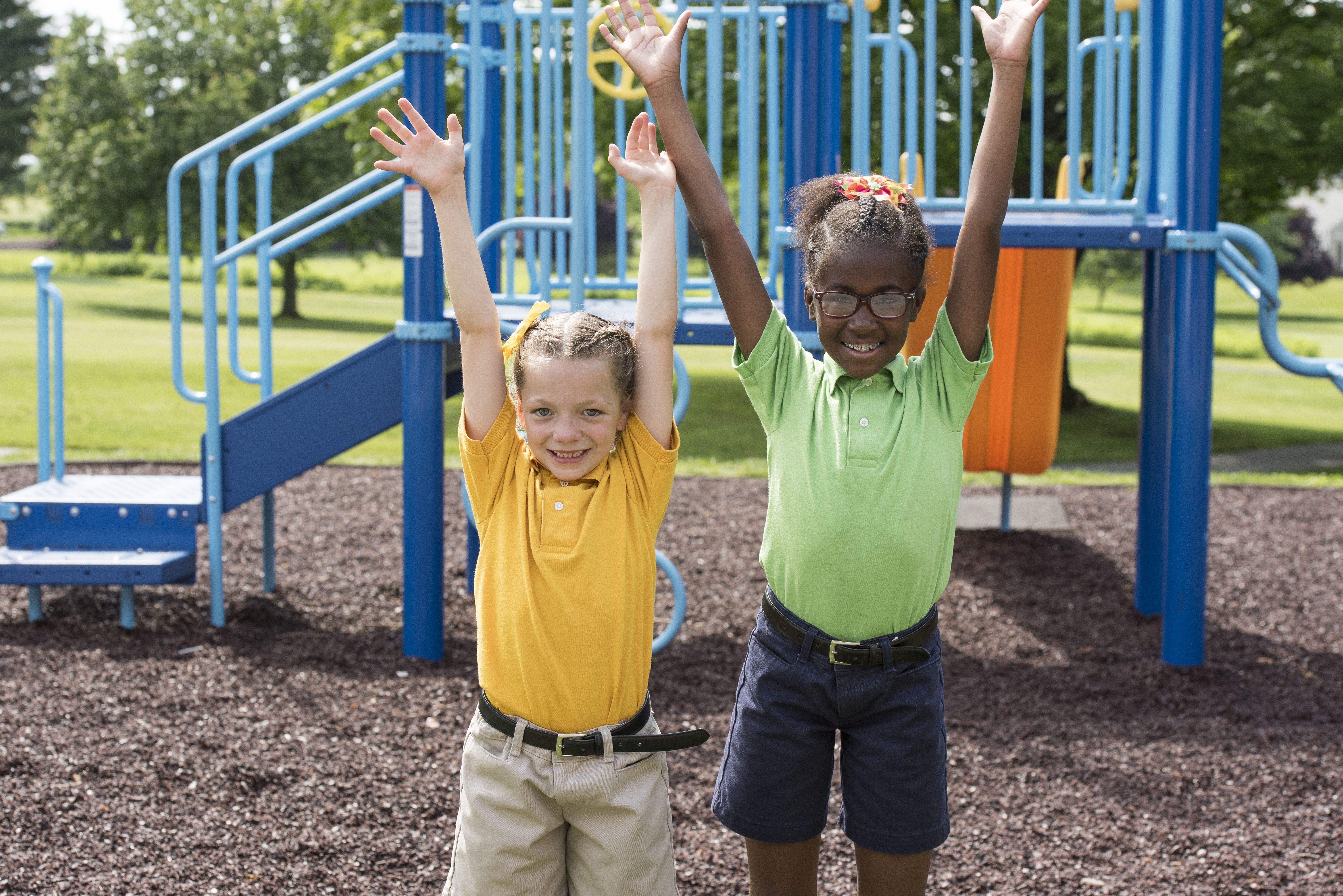 MHS students enjoy time on the playground.