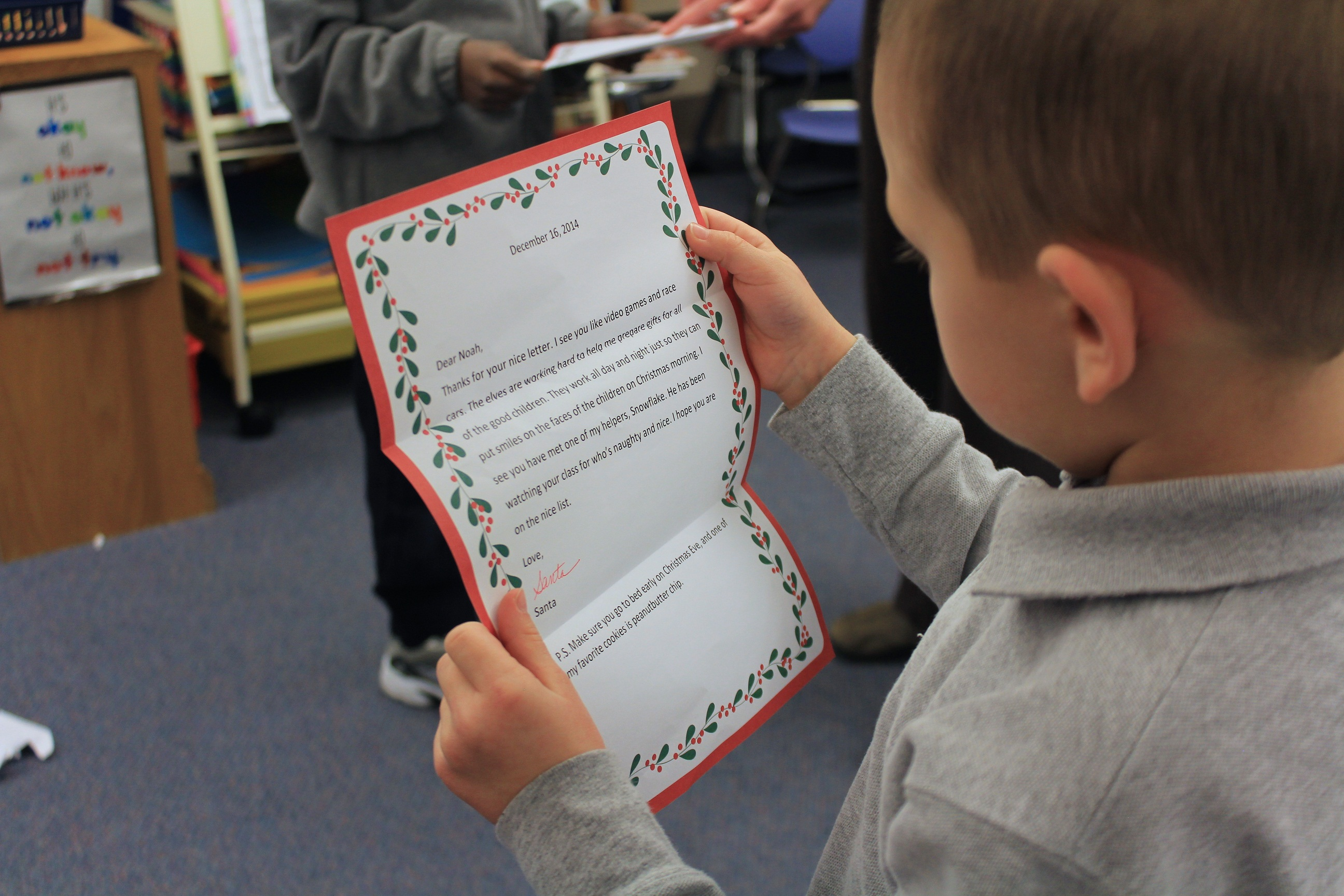 Students Receive Letters From Santa  Milton Hershey School