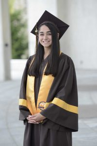 Tatiana after completing her graduation