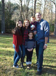 Tatiana with her family