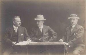 Milton S. Hershey with friends