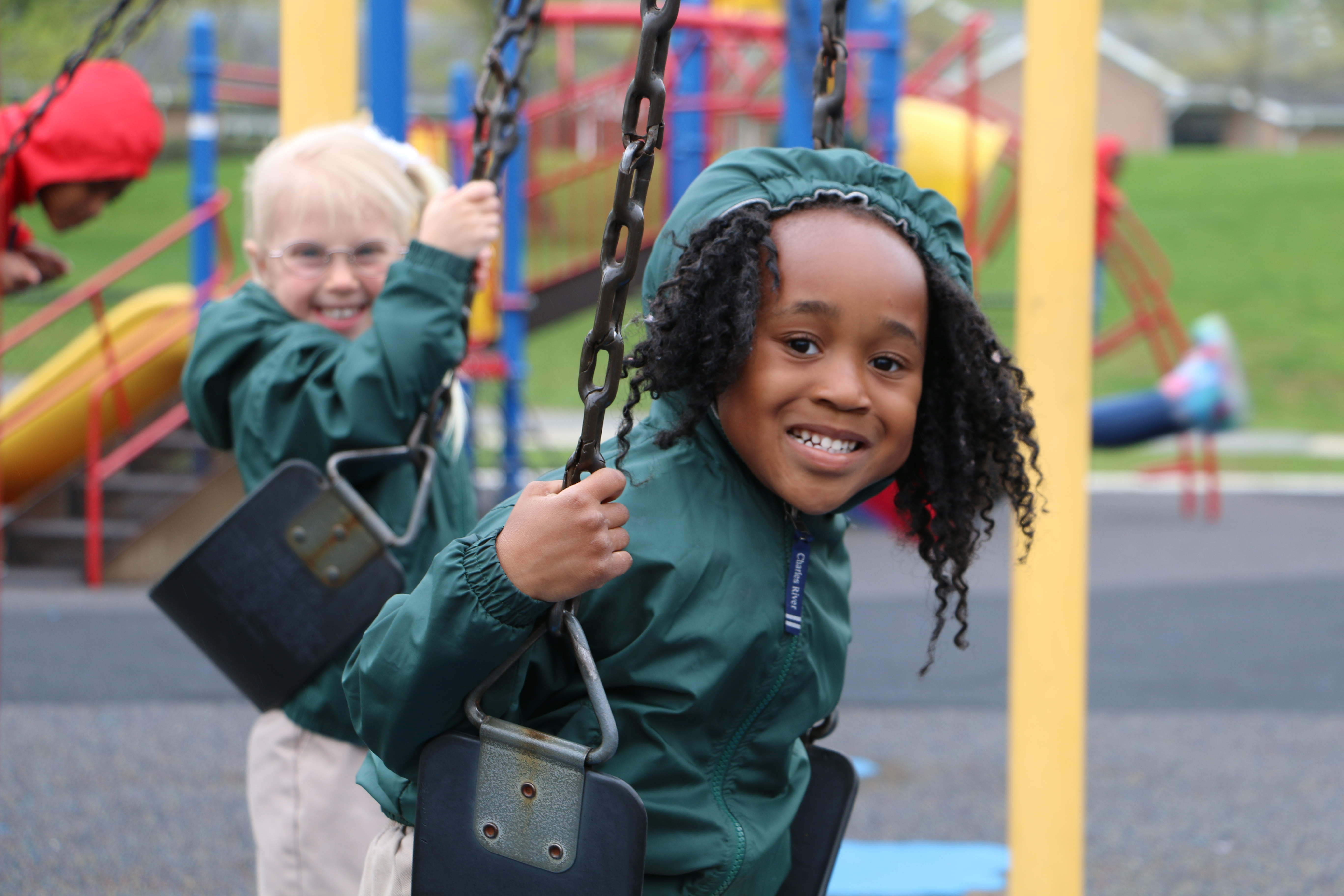 Students enjoying at park