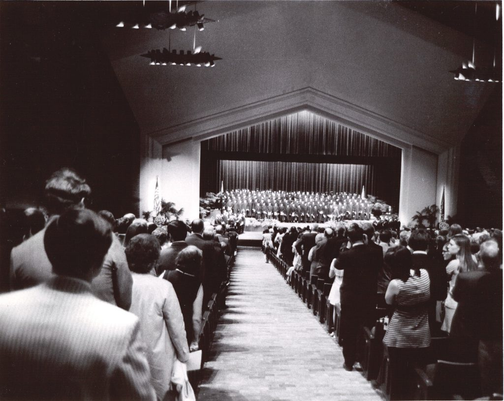 First graduation in the new Founders Hall.
