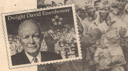 The Eisenhower Stamp Which Uses Photo In Background