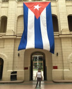 Inside the revolutionary museum in Havana, Cuba