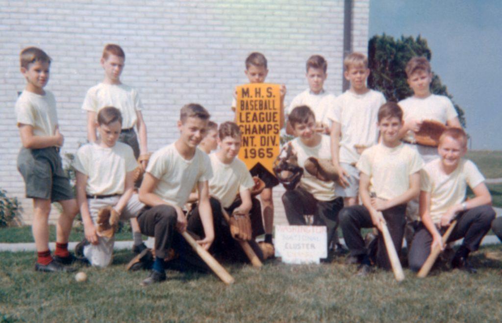 Championship baseball team in 1965.