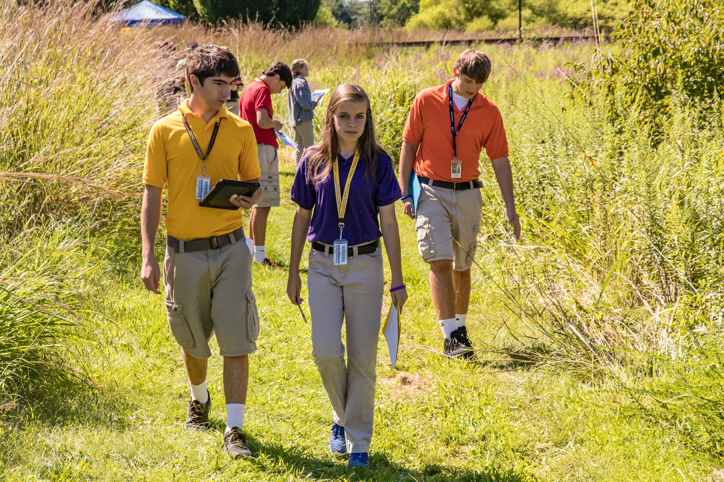 During the second week of the 2016-17 school year, 16 sophomore biology classes were held at Milton Hershey School's Spartan Meadow—a pond and stream area on main campus.