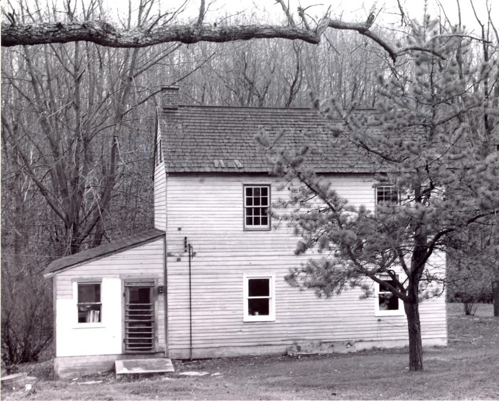 Childhood home of Milton Hershey in Bart Township. (Photo courtesy of Paul A.W. Wallace, 1954)