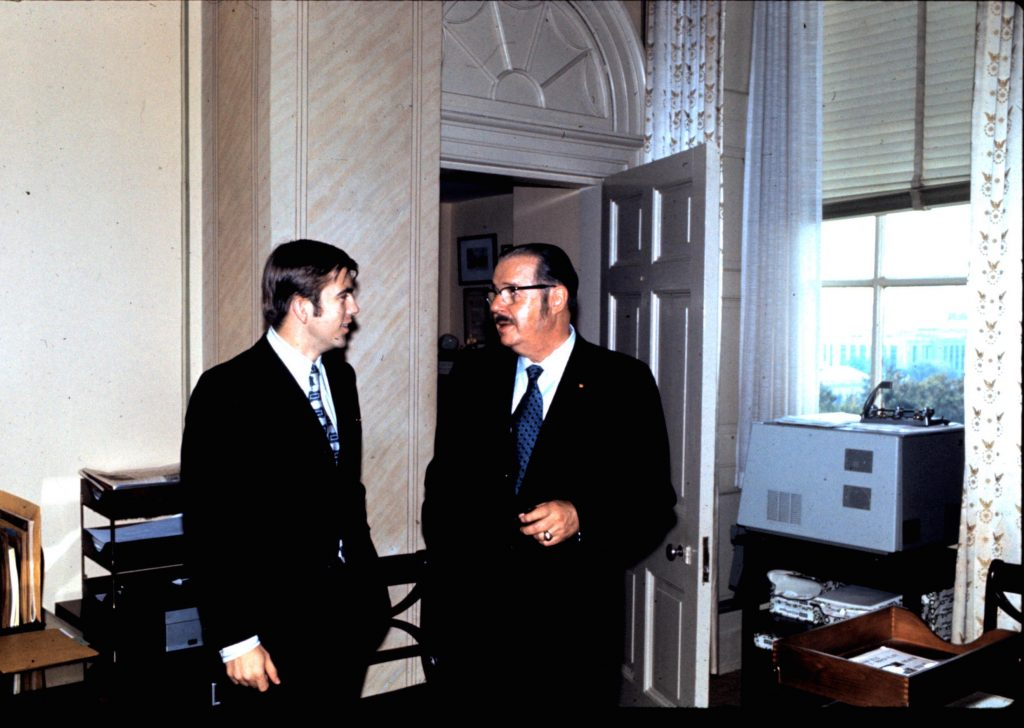 Ray with PA Senator Hugh Scott -- Fall 1971