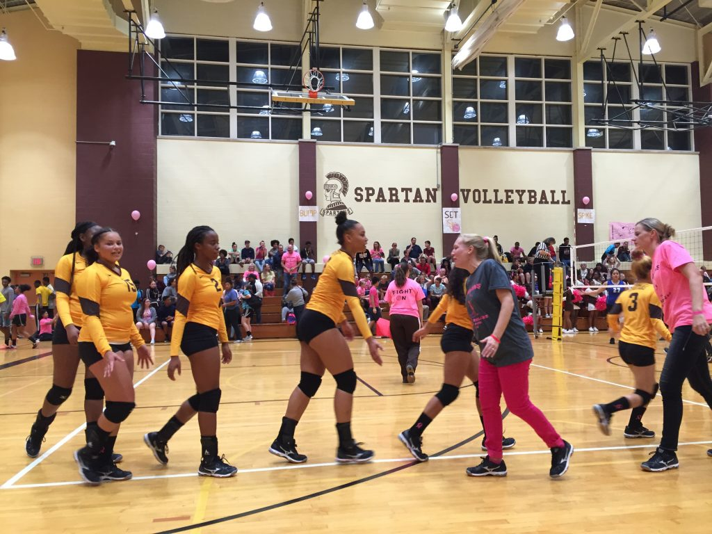 The Spartans girls' volleyball team defeated the Steel-High Rollers and secured the Spartans' spot as the 2016 Mid-Penn Colonial Division champions.
