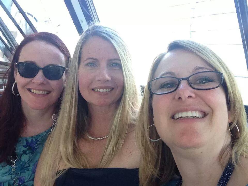 Bridget, Felicia '87 and Cyndi '87 at a wedding for two MHS alumni.
