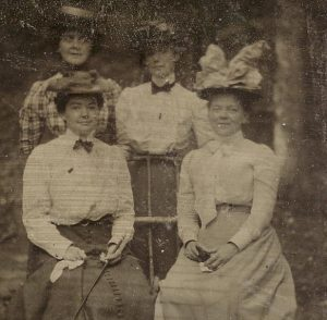 Catherine (Sweeney) Hershey with her mother and sisters.