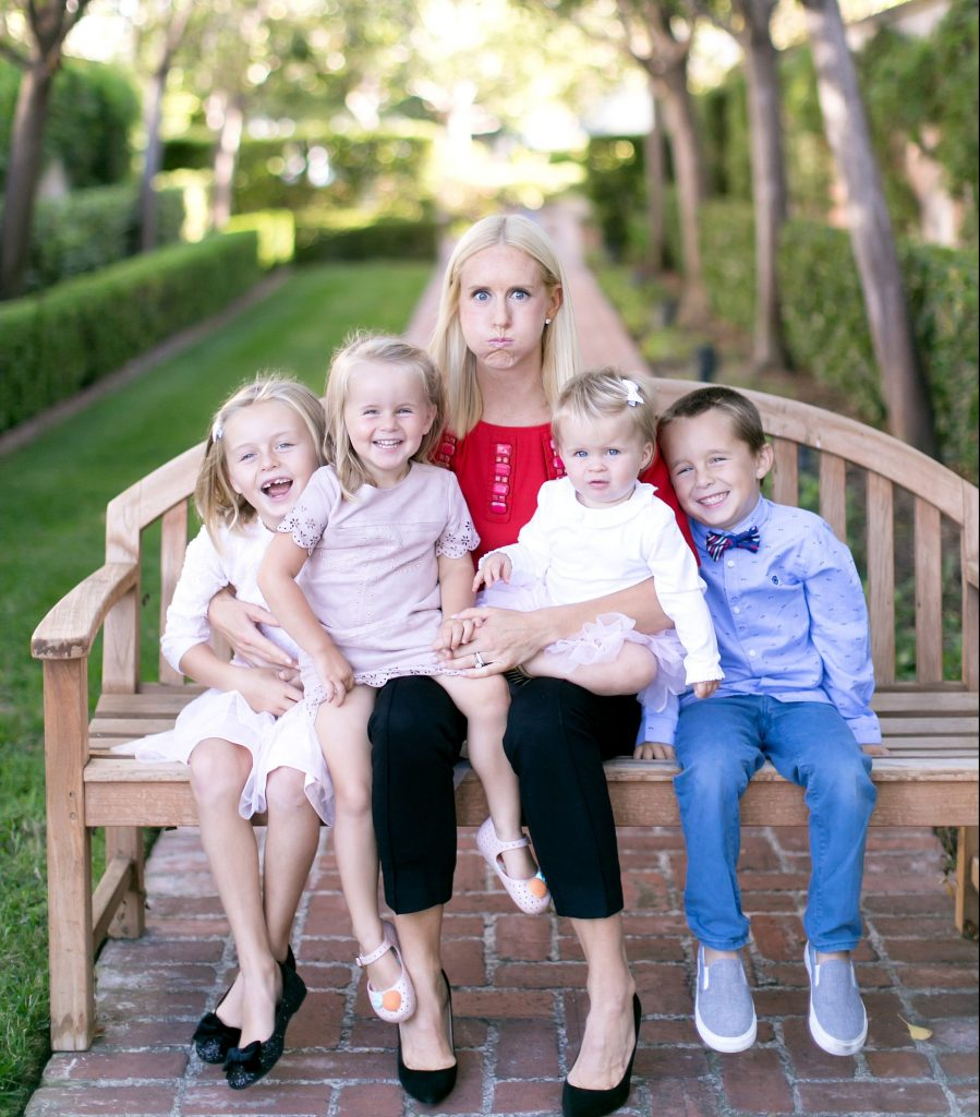 Kate and her four children.