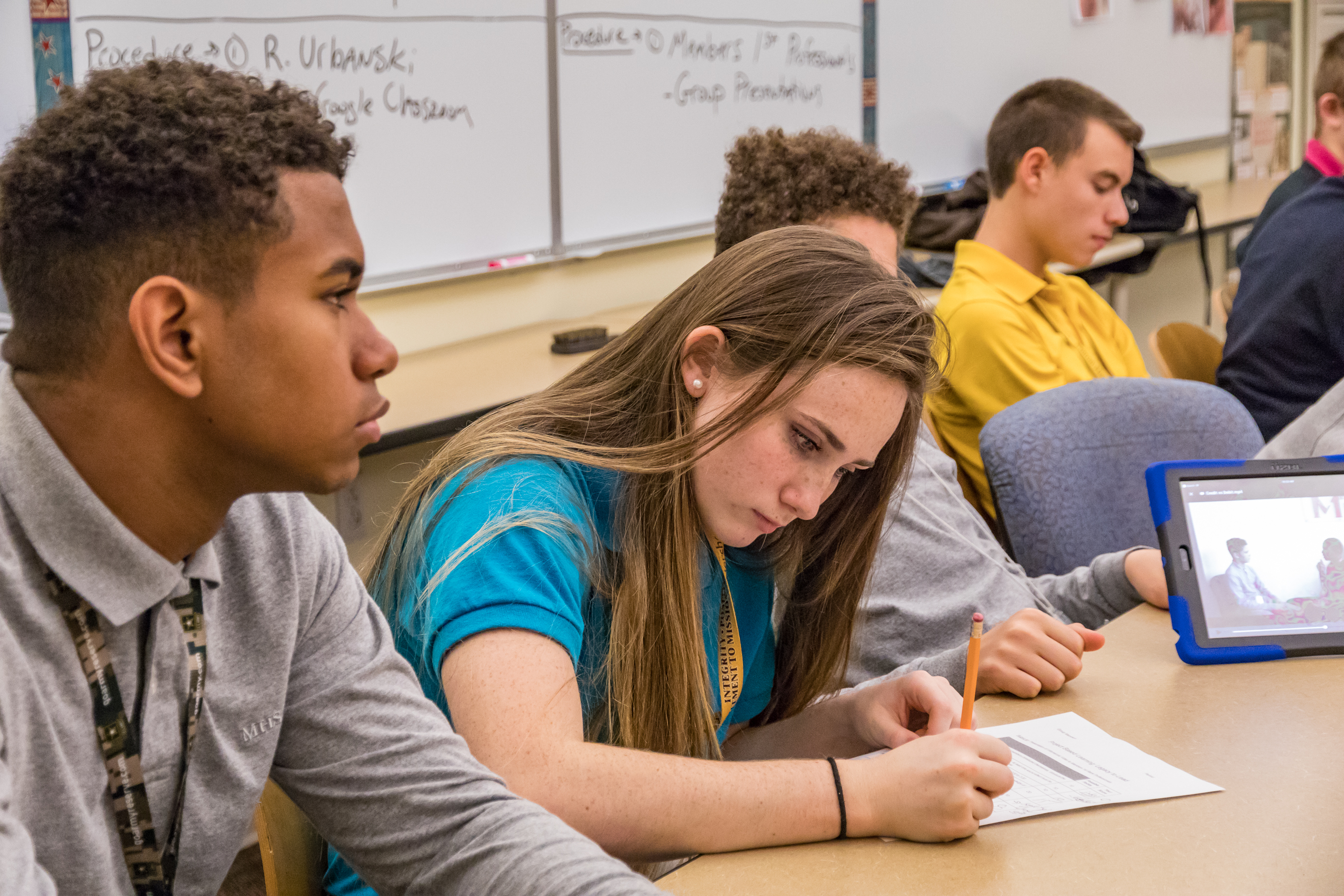 Milton Hershey School students recently learned about financial literacy through a project-based learning activity in the school's Legacy to Lead course.