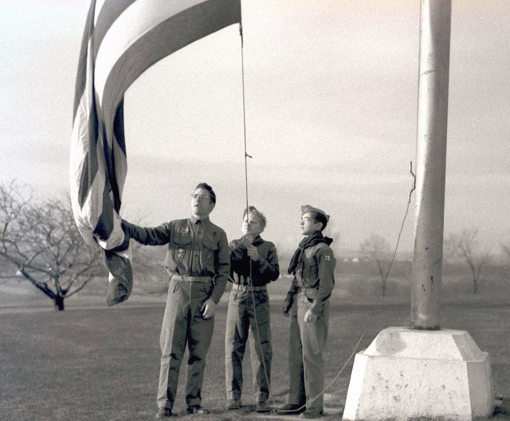 scouts_flag_raising_1957