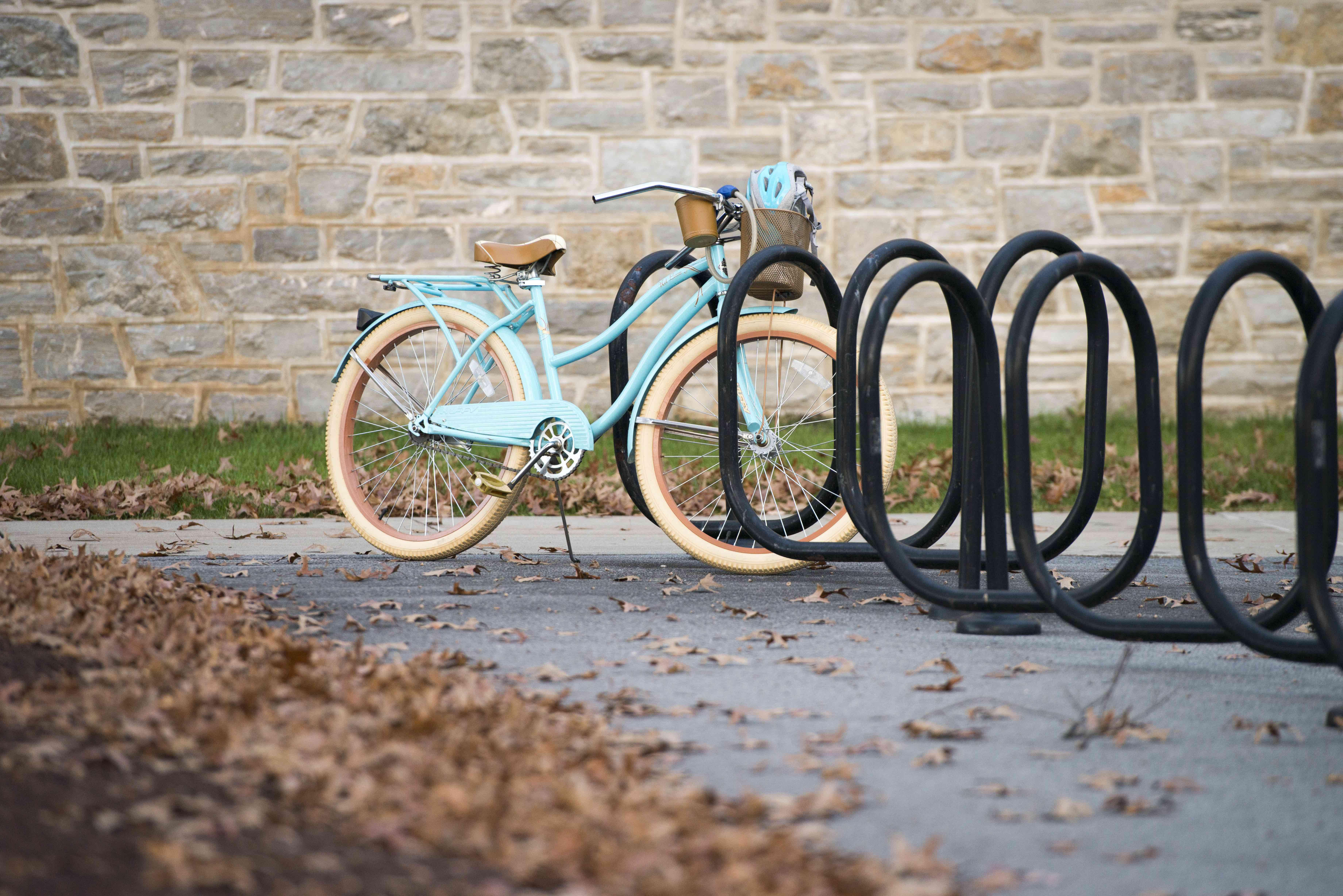 Bike sitting in bike rack