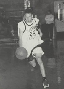 Jonathan Branam running down the court.