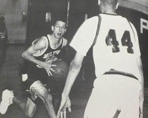 Jonathan Branam playing basketball, getting ready to shoot.
