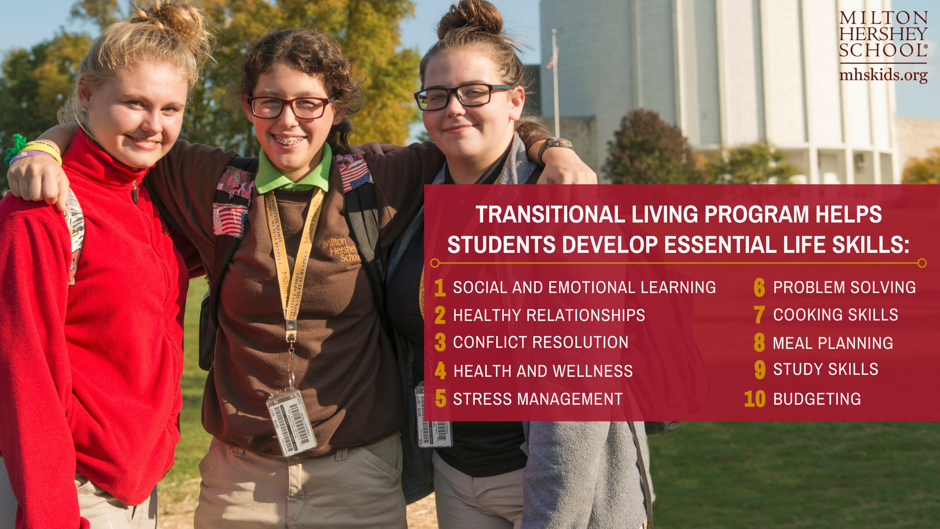 Transitional living program highlights.