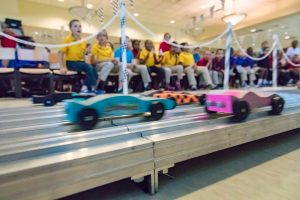 MHS hosted the Grand Champion Cup where the winning Cub Scout's car battled the winning Girl Scout's car to name the ultimate champion.