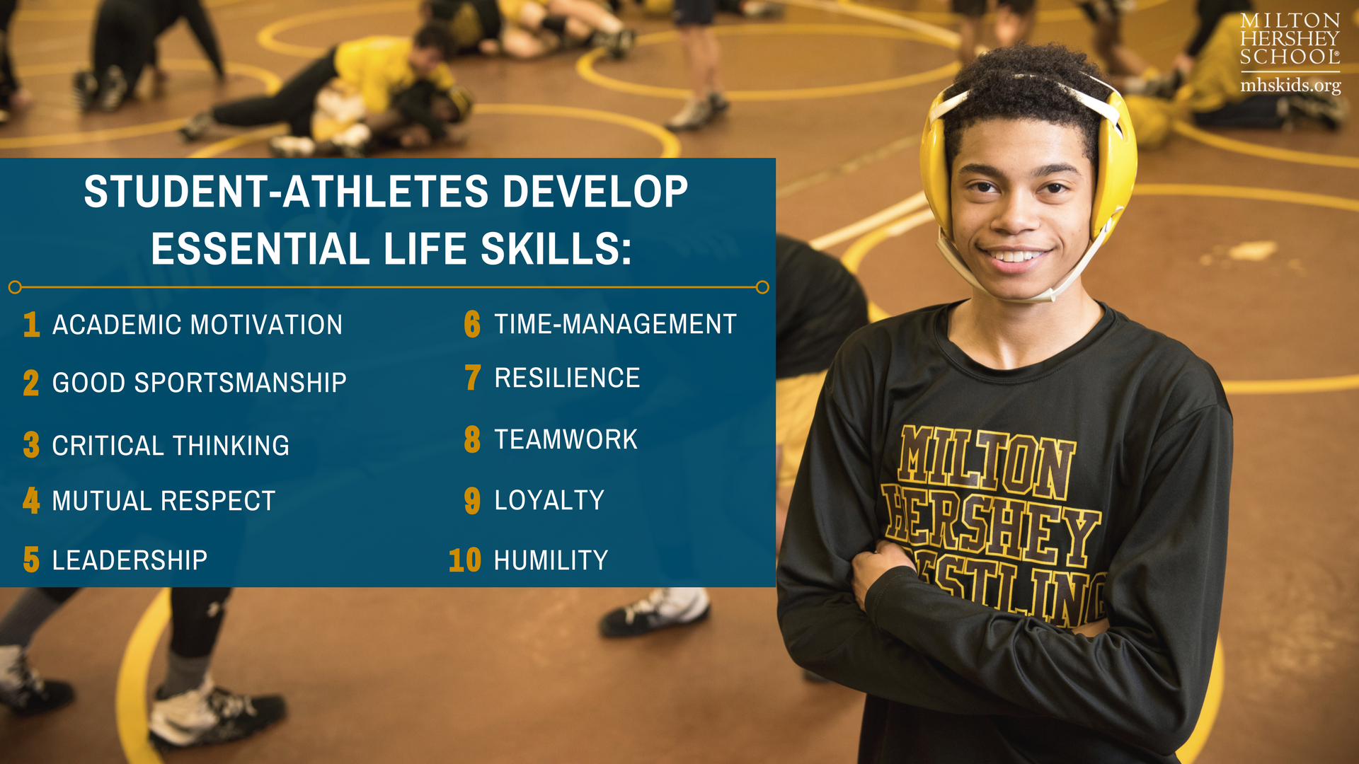 Athletic programming teaches kids to communicate, create goals, and stay active. Learn more about the life skills MHS students gain through athletics!