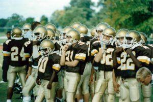 MHS football team on field