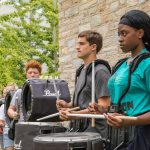 """This fall, Milton Hershey School's marching band is preparing a complex, four-movement show titled """"Destination"""" to perform at each football game."""