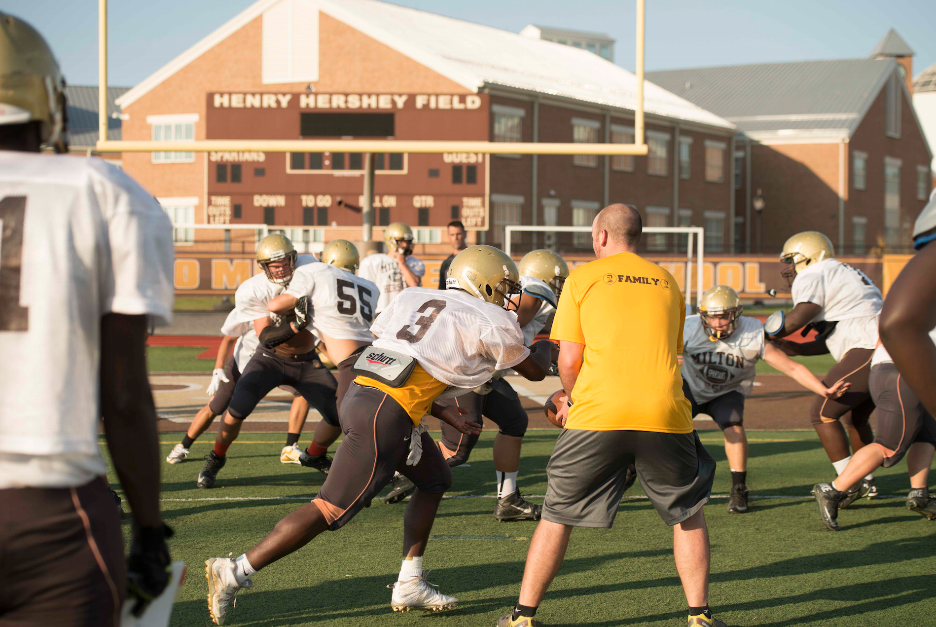 At MHS, the football team act as family on and off the field.