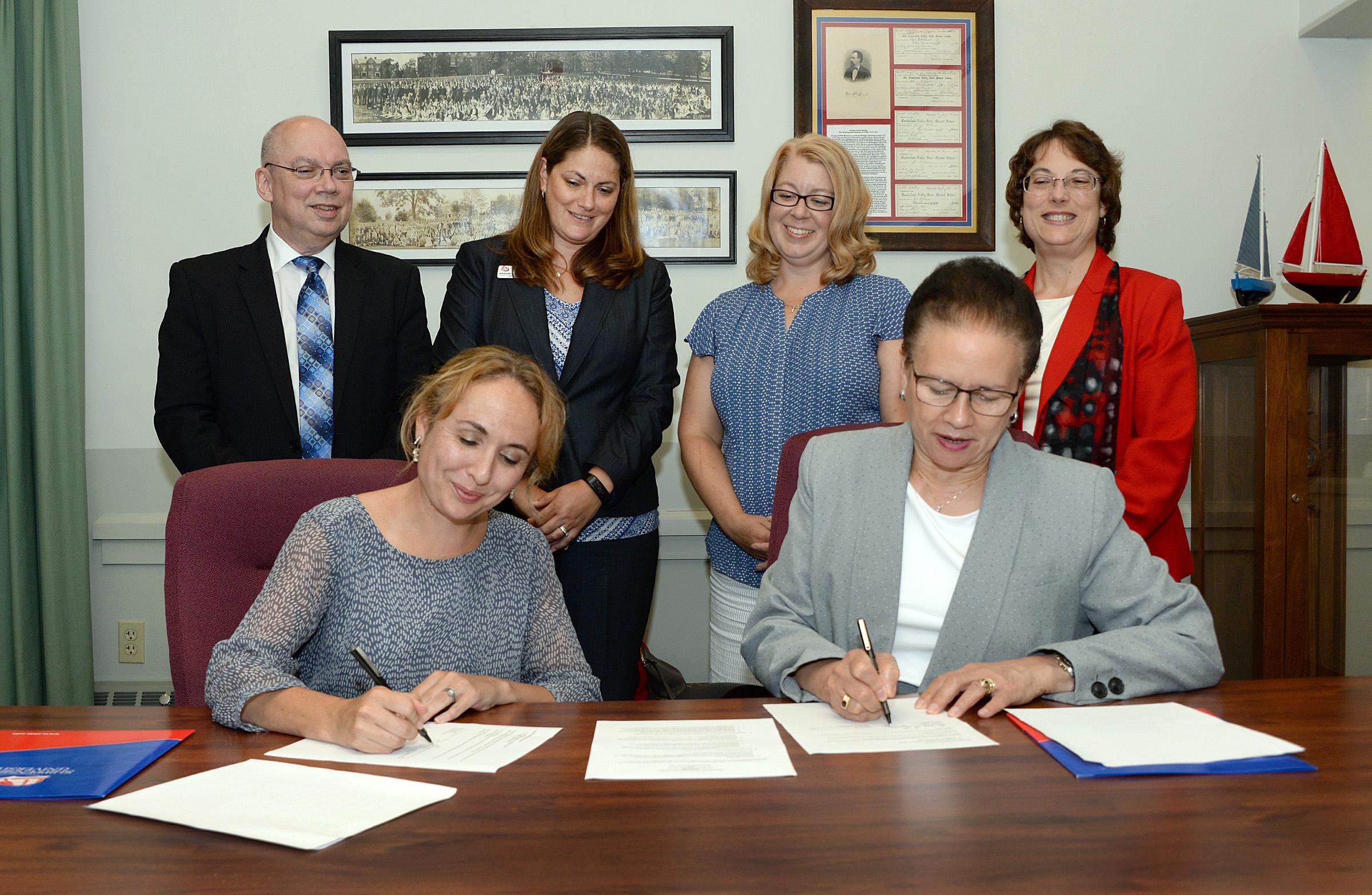 On Friday, July 28, Milton Hershey School signed a memorandum of understanding (MOU) with Shippensburg University.