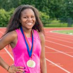 Milton Hershey School sophomore Tatyana Gibson recently earned a gold medal at the National AAU Junior Olympic Games.