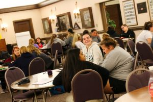 More than 80 seniors completed a two-day writing workshop as part of the school's Year-Round Experiences (YRE) program.
