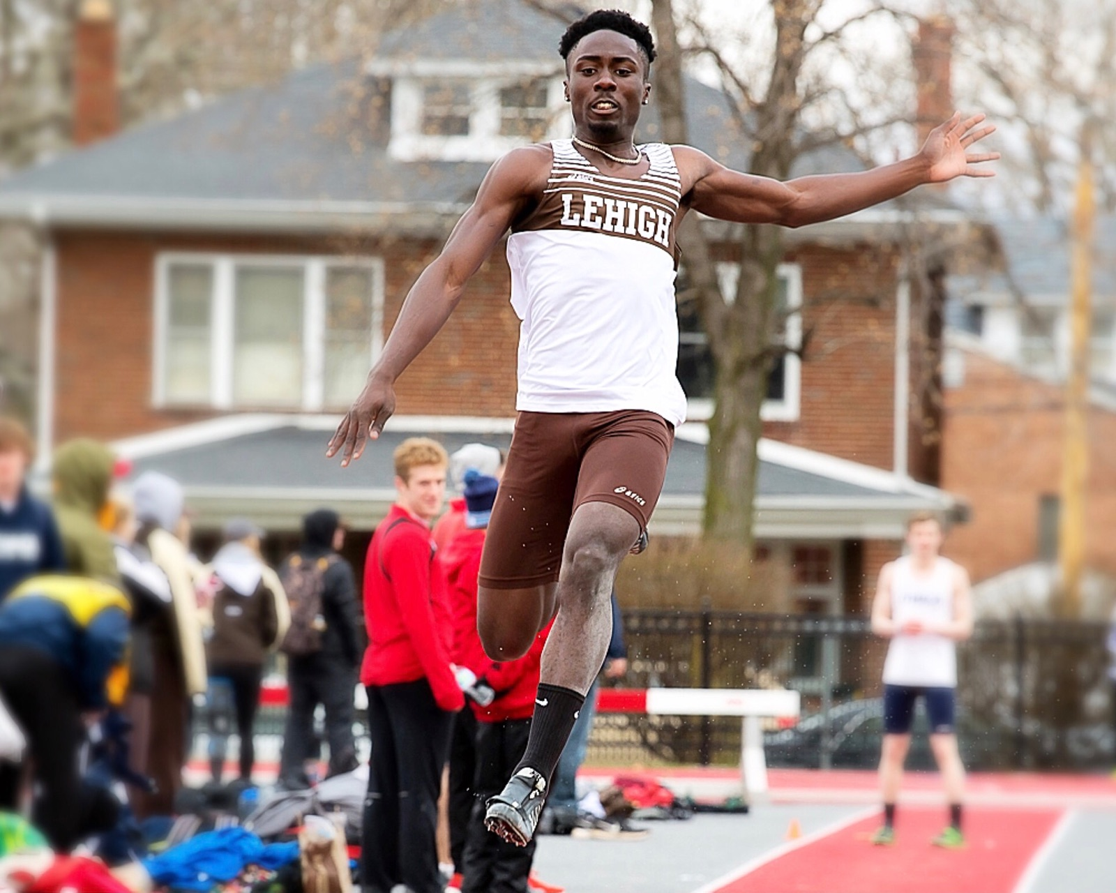 Near the end of his high school career, Juwon transitioned from sprinting to the triple jump and long jump events. He now attends Lehigh University.