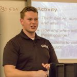 Alex Radetsky returns to the classroom that sparked his interest in engineering