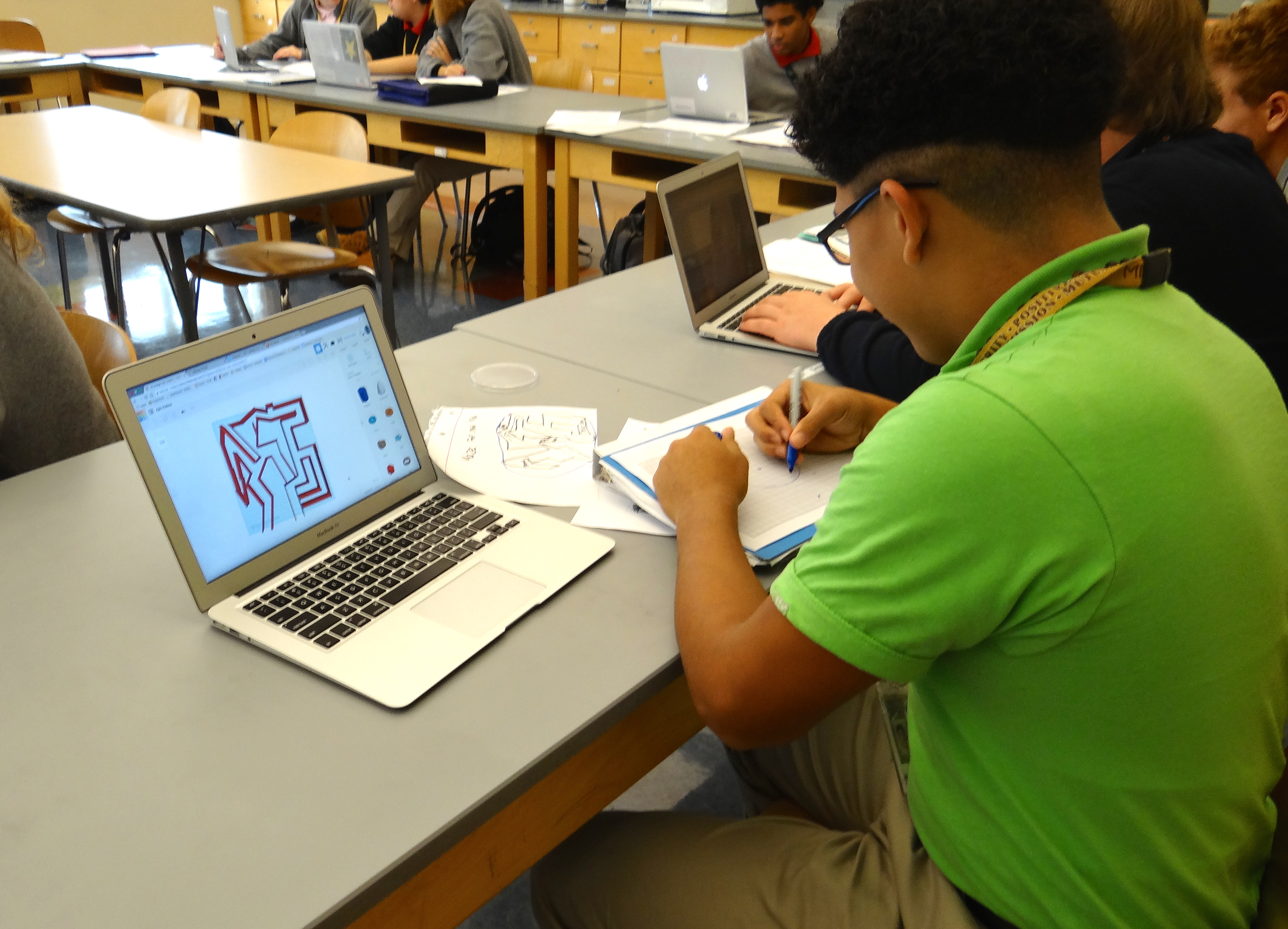 Milton Hershey School tenth-grade biology students completed a design thinking laboratory exercise.