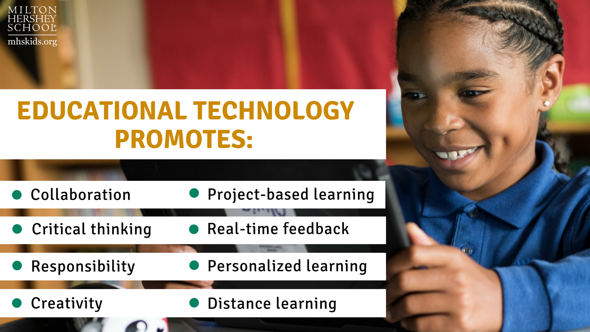 Educational technology promotes several 21st century skills