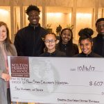 Milton Hershey School high schoolers presented a donation of $607 to Penn State Children's Hospital with the tips from their summer internships.