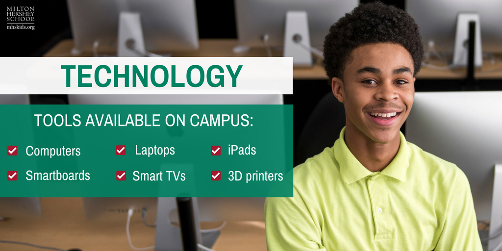 Technology tools available on the MHS campus