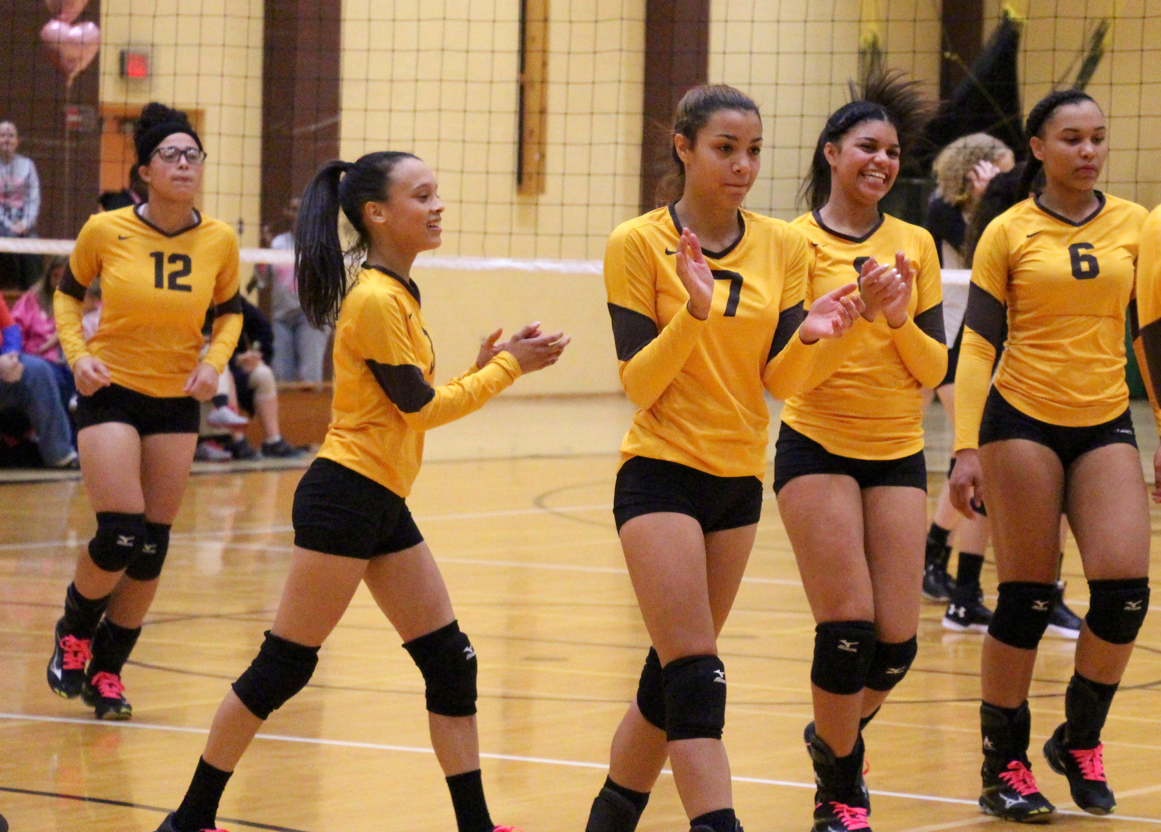 Milton Hershey School volleyball players recently were named to the Mid-Penn Colonial Division first team all-conference