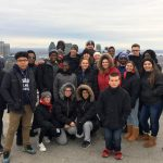 A group of Milton Hershey School high school students and staff members in Montréal and Québec City.