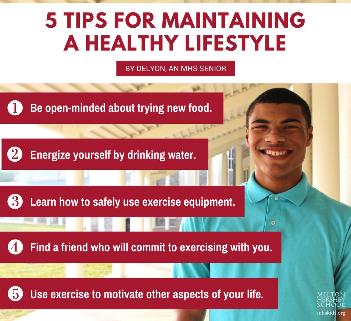 Delyon, an MHS senior, shared health and wellness tips