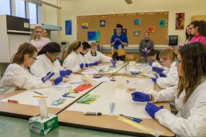 """MHS students at """"Paint with Bacteria"""" event"""