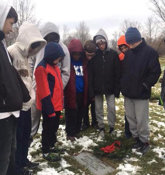 On Dec. 16, more than 200 Milton Hershey School middle school students honored the nation's deceased veterans in National Wreaths Across America Day
