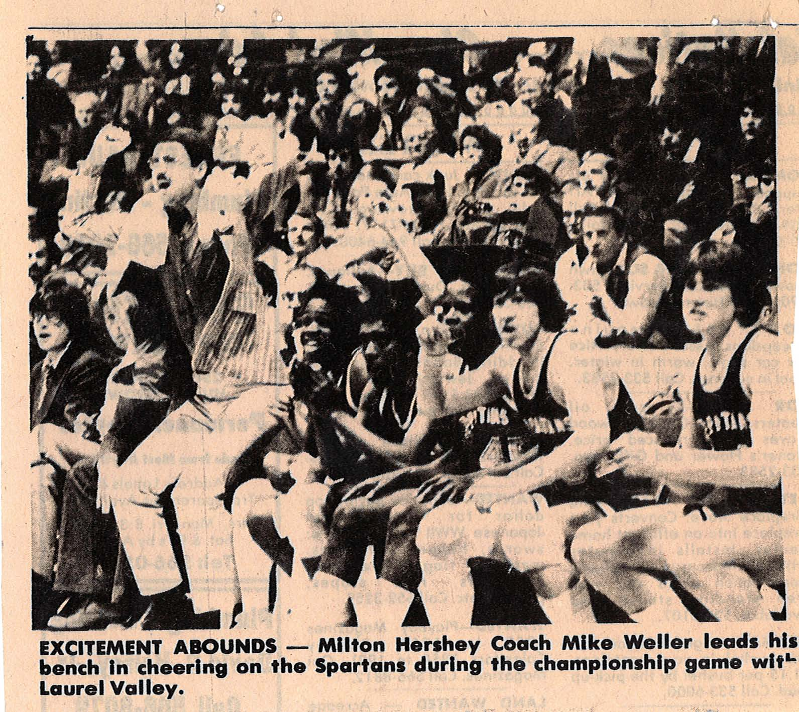 History of MHS basketball newspaper article