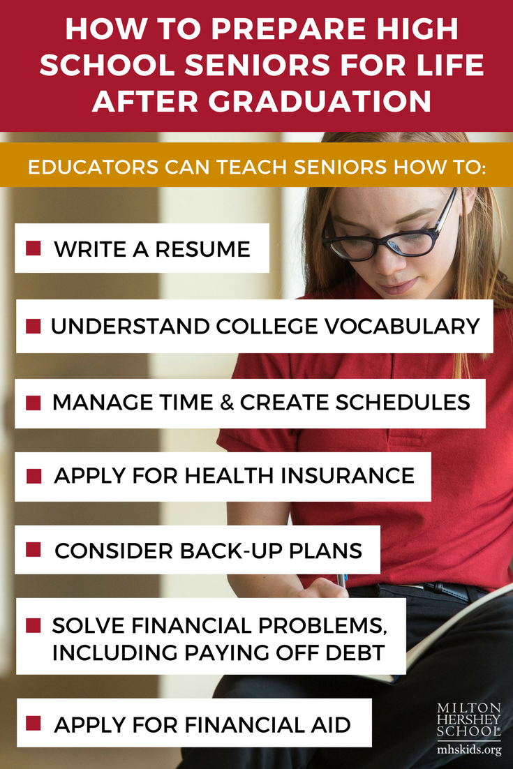 How to prepare high school seniors for life after graduation