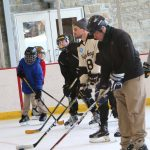 On Thursday, Feb. 8, four members of the Hershey Bears visited Milton Hershey School and shared some valuable advice with the middle school ice hockey team.