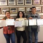 Three Milton Hershey School high school students recently participated in a Brain Bee Competition through the Neuroscience Department at the Penn State Health Milton S. Hershey Medical Center.