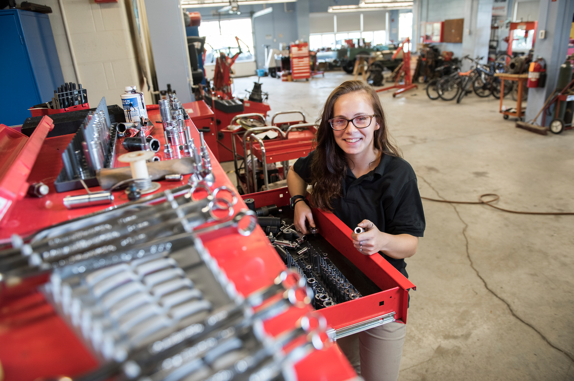 MHS student in automotive pathway