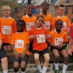a group of MHS elementary students recently participated in the Race Against Racism 5K in Lancaster.