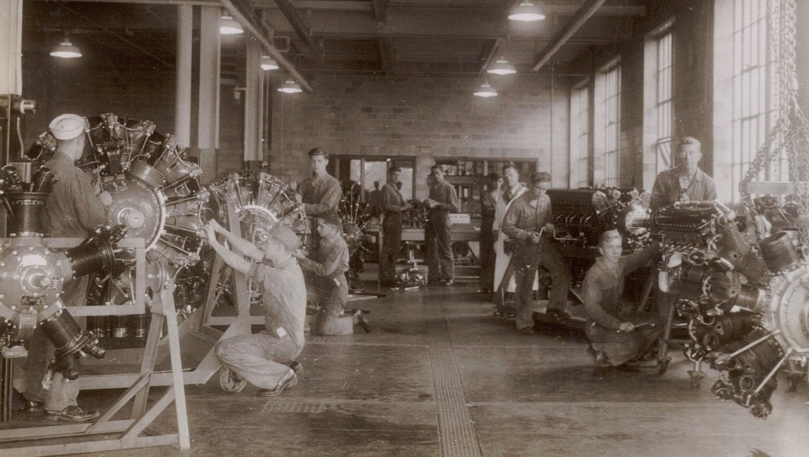 In the 1940s, the school prepared students for the war with technical skill-building and a unique airplane mechanics program.