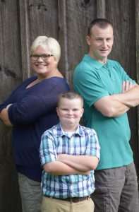 James, an MHS fifth-grader, and his family